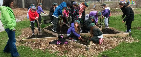 Grade 2 students at The Toronto Heschel School (a Jewish day school in Toronto) celebrate Earth Day!