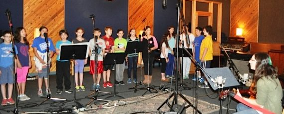 Students in the Junior High Choir at The Toronto Heschel School (a Jewish day school in Toronto) recording jewish and israeli songs.