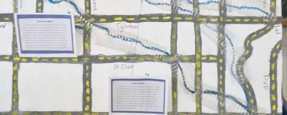 Grade 6 students at The Toronto Heschel School (a Jewish day school in toronto) created a water map as part of their grade 6 civics project..
